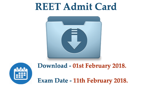 REET Admit Card 2018 Download Image